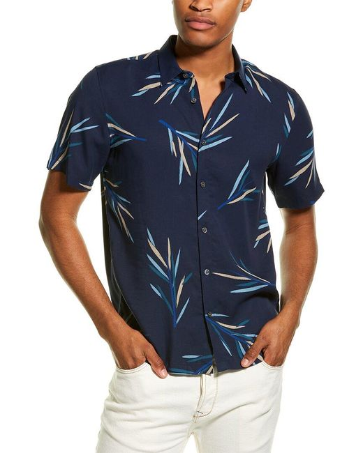 Theory Blue Irving Woven Shirt for men