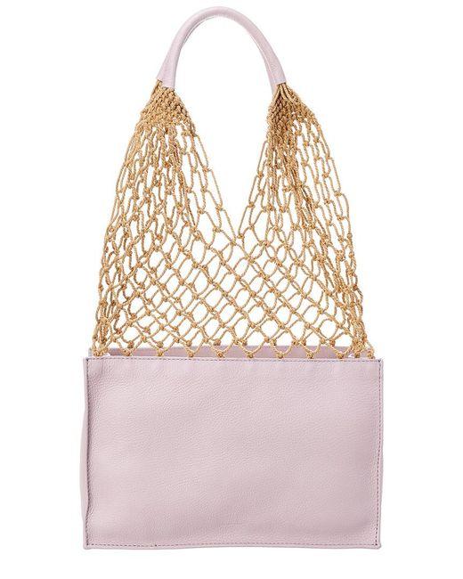Steven Alan Purple William Leather Bucket Bag