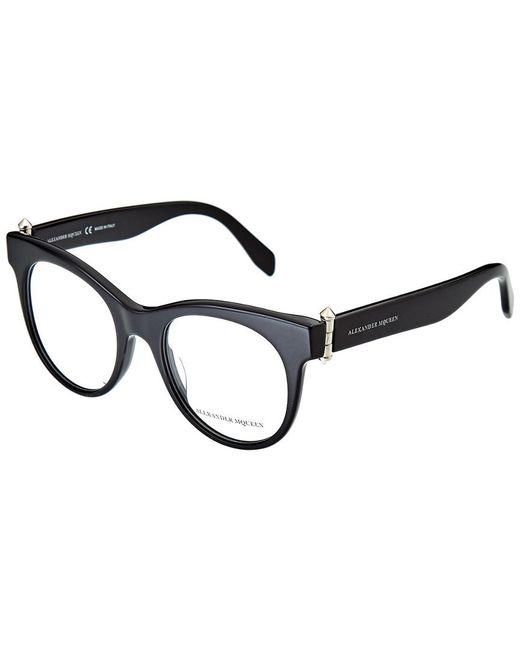 Alexander McQueen Black Women's Am0004o-30000121001 49mm Optical Frames