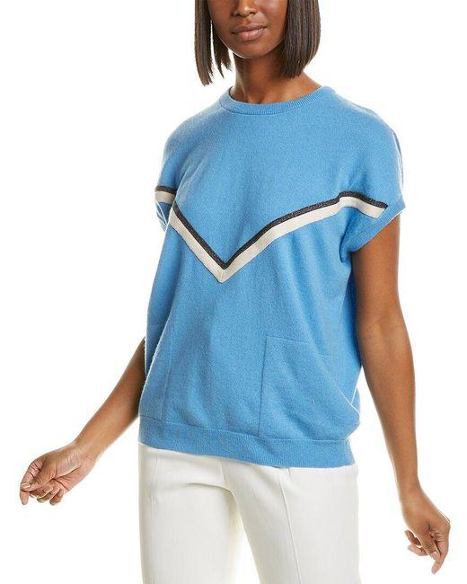 Brunello Cucinelli Blue Cashmere Sweater