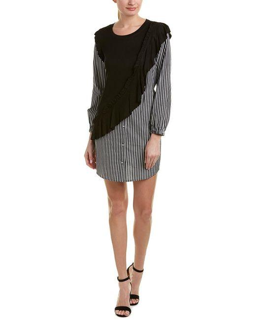 Kensie Black Drift Shirtdress