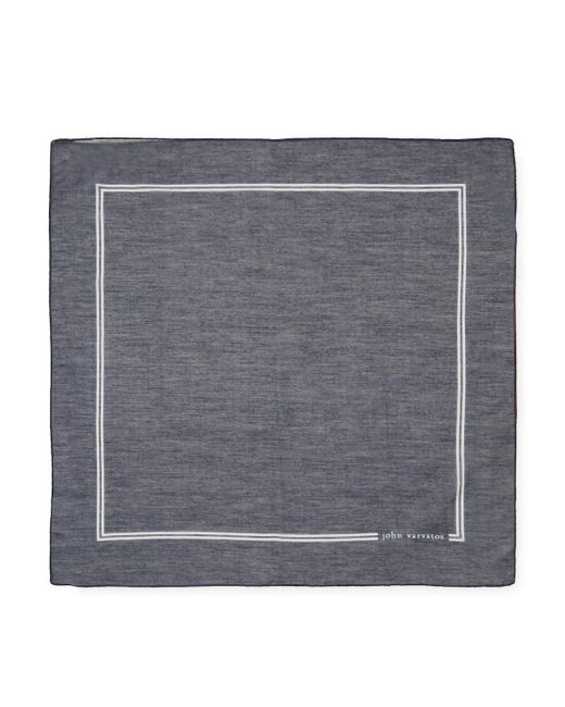 John Varvatos | Blue Signature Cotton Pocket Square for Men | Lyst