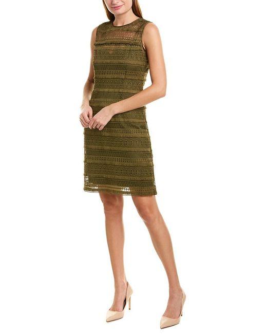 Elie Tahari Green Sheath Dress