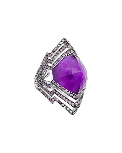 Stephen Webster Purple Lady Stardust 18k 1.86 Ct. Tw. Diamond & Sapphire Ring