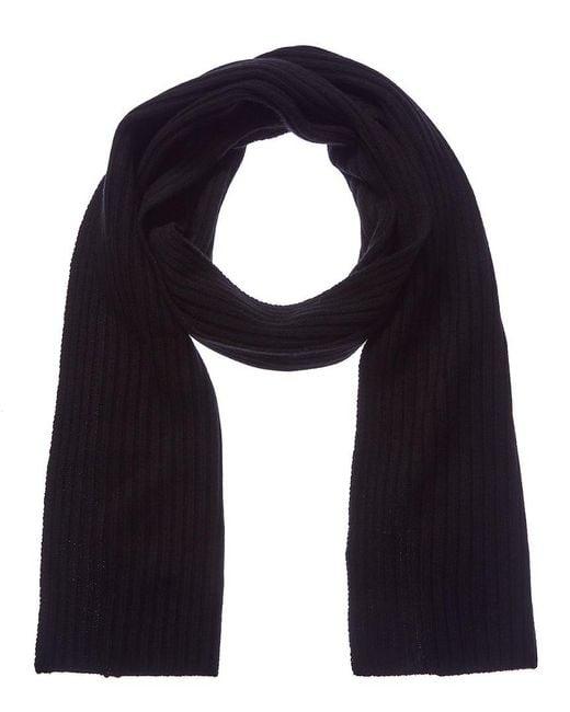 Sofia Cashmere - Black Cashmere Knit Scarf - Lyst