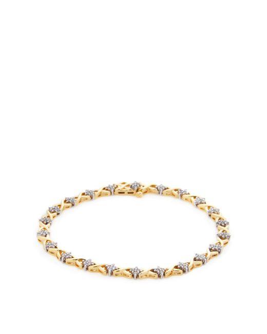 Rina Limor - Metallic Diamond Criss-cross Tennis Bracelet - Lyst