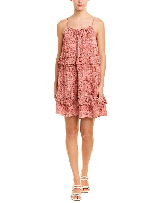 Jack BB Dakota Pink Ruffle Shift Dress