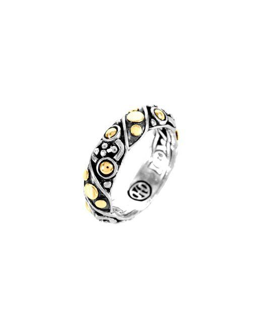 John Hardy - Metallic Jaisalmer Dot Gold & Silver Twist Band Ring - Lyst