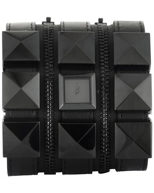 Karl Lagerfeld Black Leather Watch