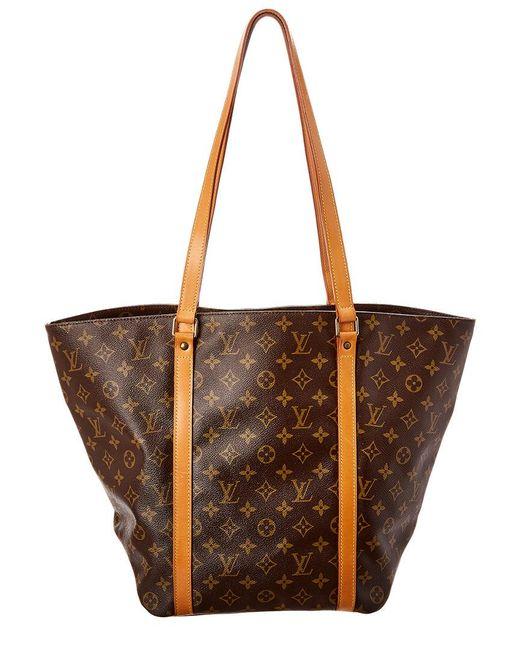 0a27ac3cf23f Lyst - Louis Vuitton Monogram Canvas Sac Shopping in Brown - Save 28%