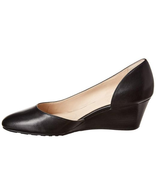 Cole Haan Edith Leather Wedge in Black