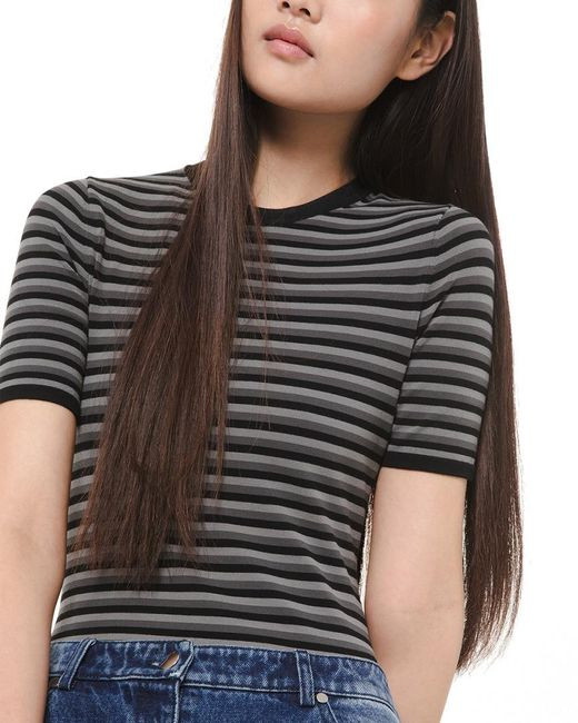 Michael Kors Gray Collection Knit Bodysuit