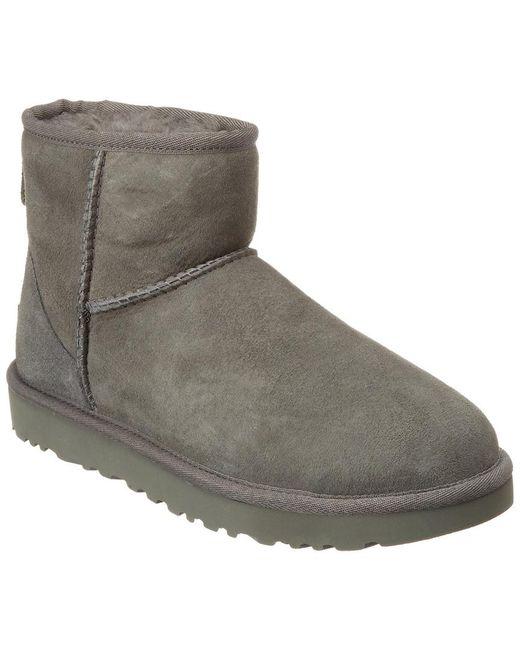 Ugg Gray Women's Classic Mini Ii Water Resistant Suede Boot