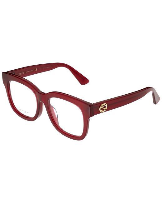 Gucci Red Women's GG0033OA-30001013008 52mm Optical Frames