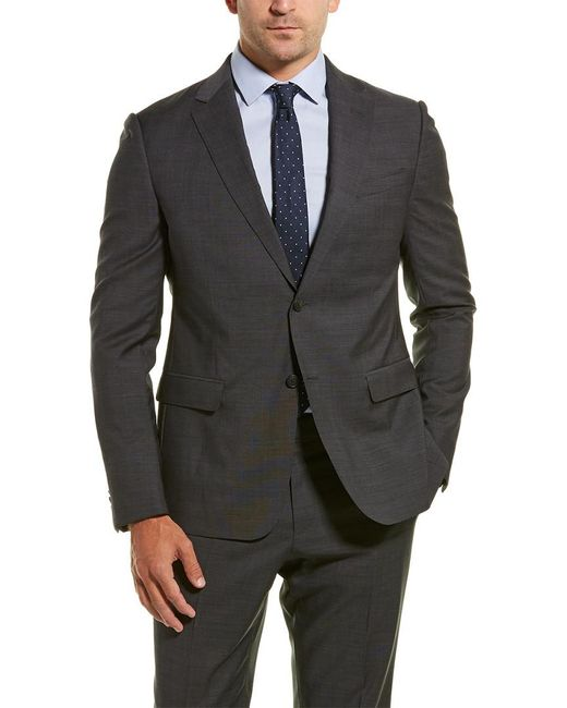 Z Zegna Gray Z Zenga 2pc Wool Suit With Flat Pant for men