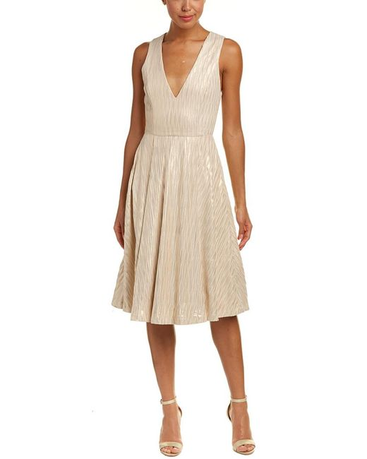 Alice + Olivia Natural Mindee A-line Dress