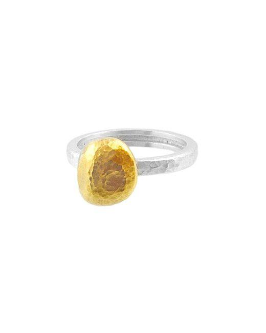 Gurhan Metallic Nugget 24k Over Silver Ring