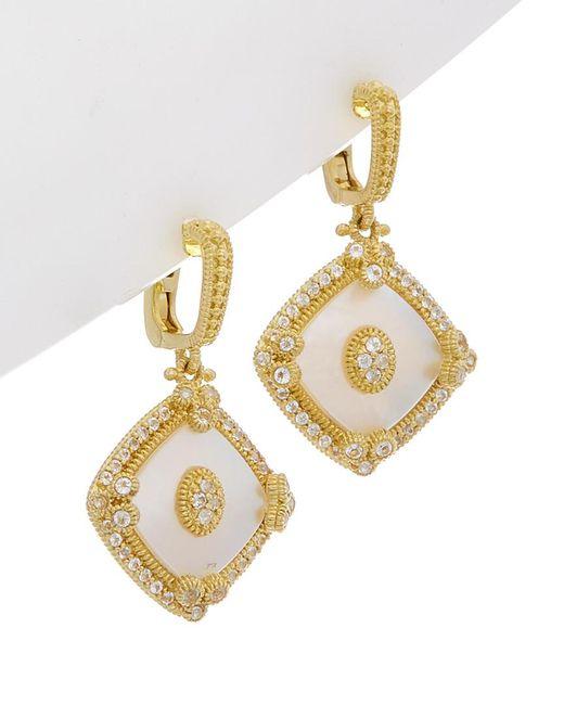 Judith Ripka - Metallic Westport 14k Over Silver 6.55 Ct. Tw. White Topaz & Mother-of-pearl Drop Earrings - Lyst