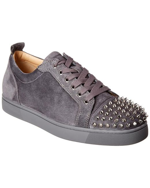 competitive price be86d a070b Men's Gray Louis Junior Spiked Suede Trainers
