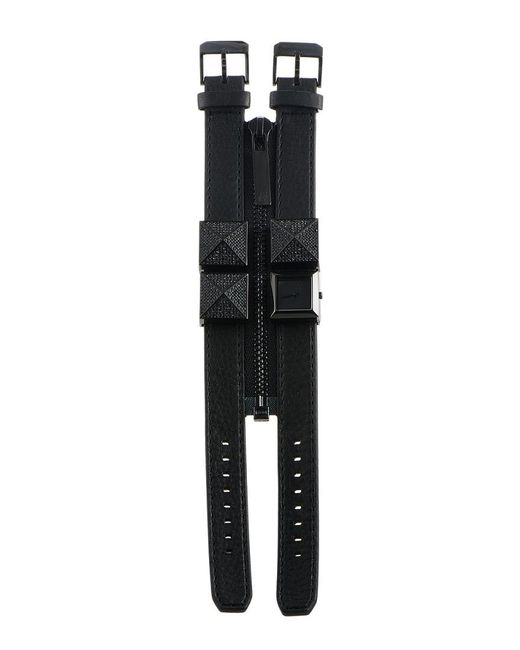 Karl Lagerfeld Black Leather Watch