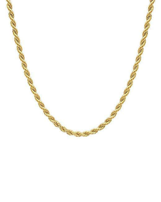 Adornia Metallic 14k Plated Rope Chain Necklace for men