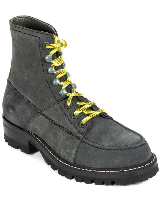 Lanvin Gray Suede Boot for men