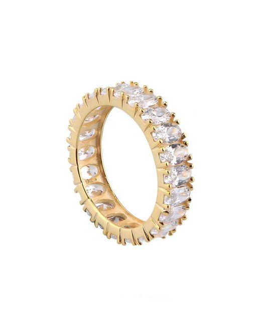Gabi Rielle Metallic 22k Over Silver Cz Ring