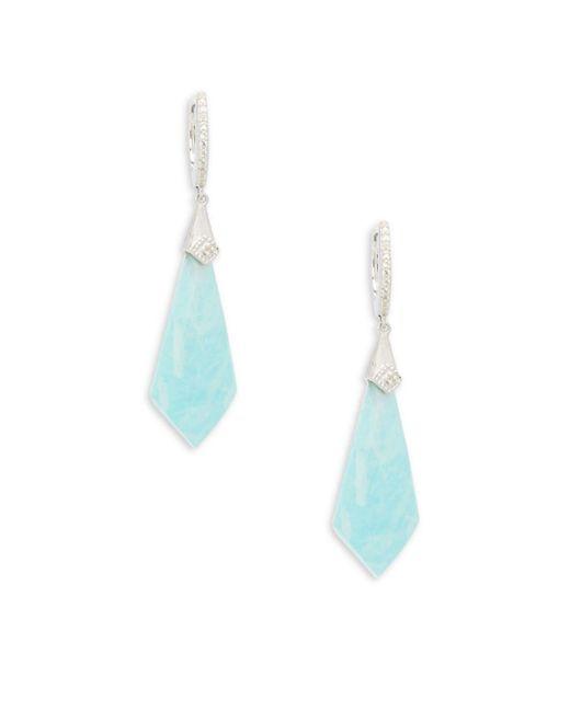 Jude Frances - Blue City Lights Sterling Silver Medium Kite Stone Doublet Earrings - Lyst
