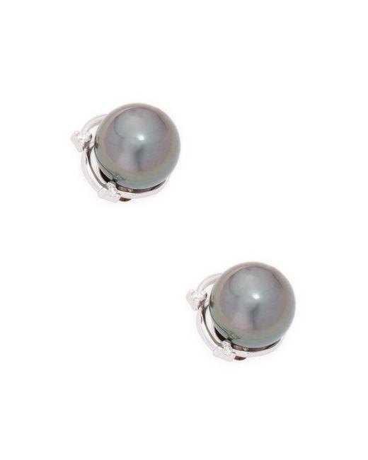 Tara Pearls Multicolor 14k White Gold Tahitian Cultured Pearl Stud Earrings