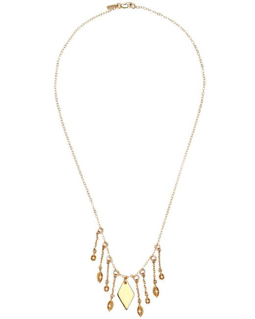 Vanessa Mooney - Metallic Diamond Necklace - Lyst