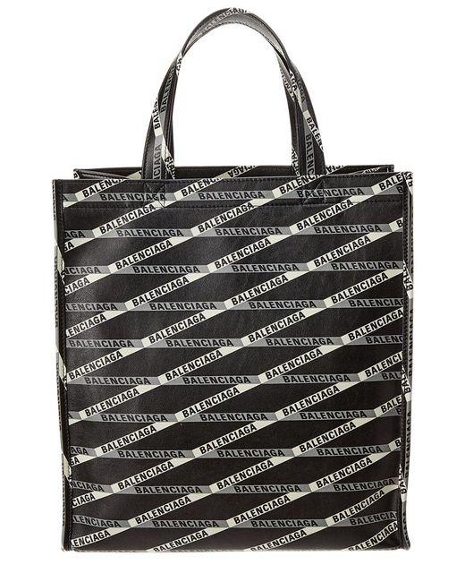 Lyst - Balenciaga Market Shopper Small Leather Tote Bag in Black ... 3fbc06de561fa