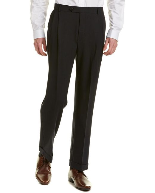 Brooks Brothers Blue Madison Fit Wool-blend Pant for men