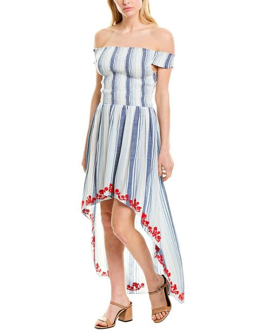 Hemant & Nandita Blue Stripe Maxi Dress