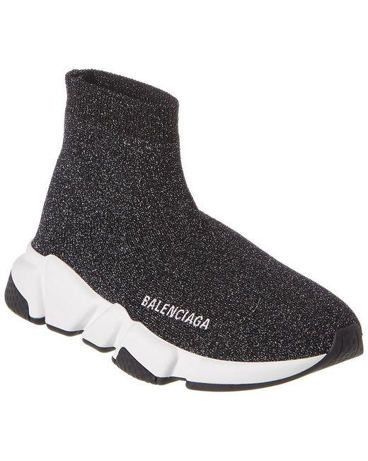 Balenciaga Black Speed Lt Lurex Knit Sneakers