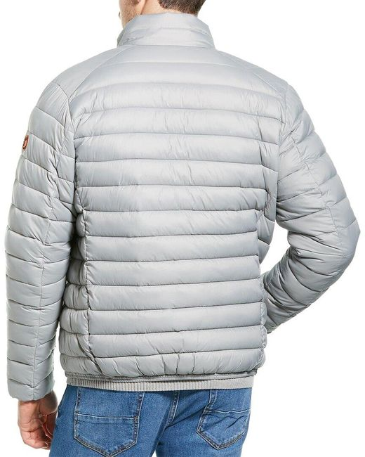 Save The Duck Gray Basic Jacket for men