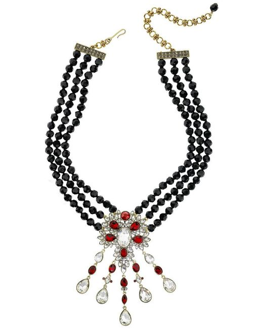 Heidi Daus Black Crystal Necklace