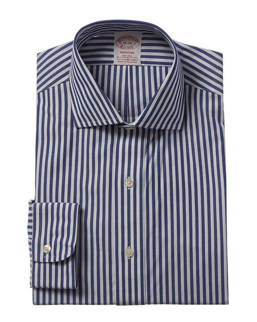Brooks Brothers Blue 1818 Madison Fit Dress Shirt for men