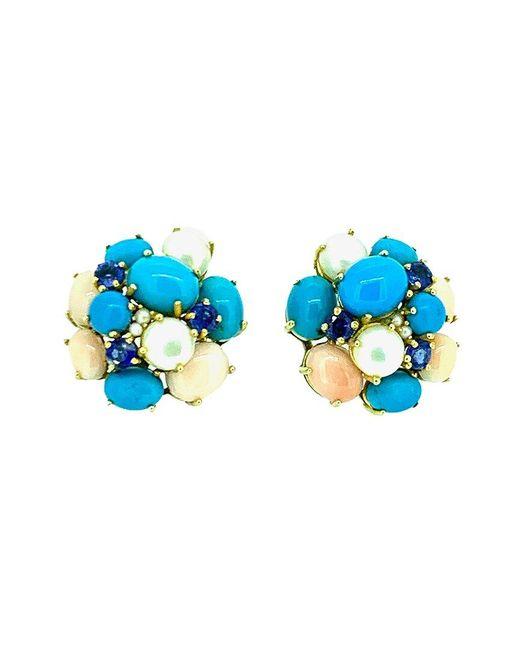 Arthur Marder Fine Jewelry Blue Gold Vermeil Earrings