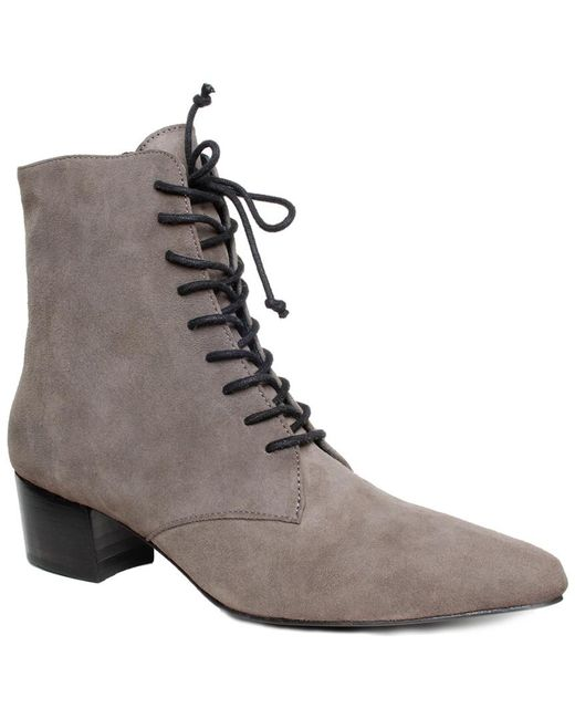 Archive Shoes - Gray Barrow Suede Bootie - Lyst