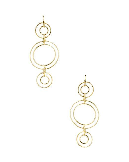 Noir Jewelry - Metallic Triple Tier Double Ring Statement Earrings - Lyst
