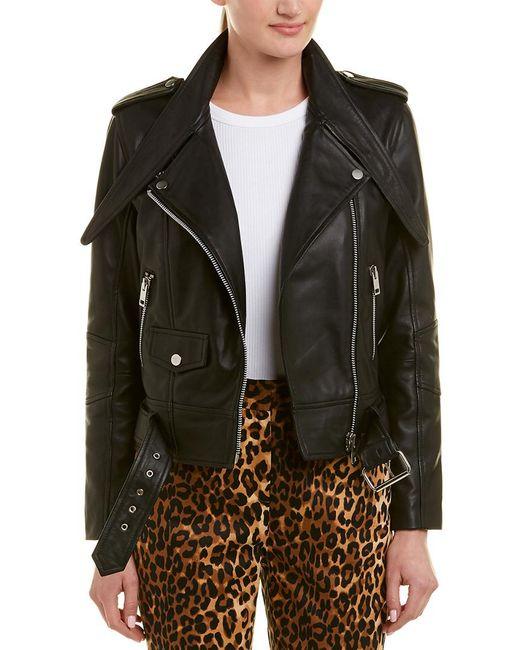Walter Baker Black Christin Leather Moto Jacket