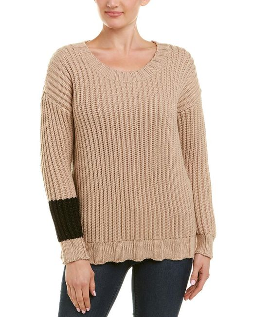 James Perse Multicolor Chunky Armband Wool-blend Sweater
