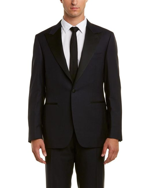 Canali Blue Wool Suit for men