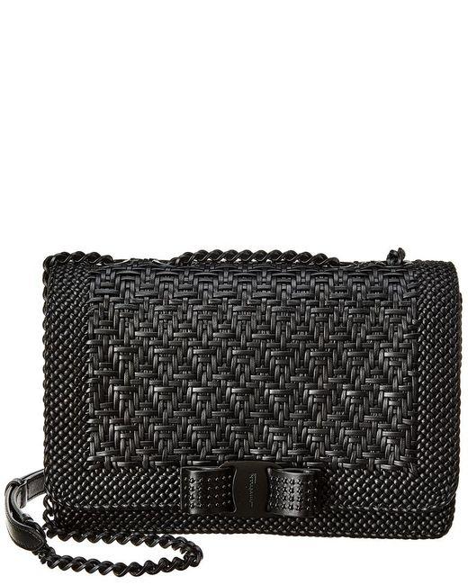 04c0100950 Ferragamo - Black Vara Bow Leather Shoulder Bag - Lyst ...