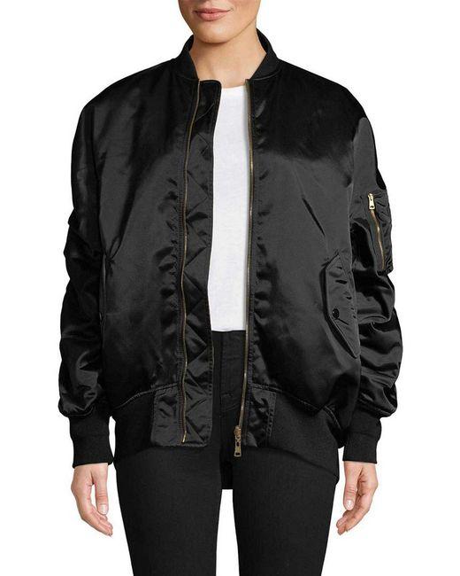 Balenciaga Black Oversized Bomber Jacket