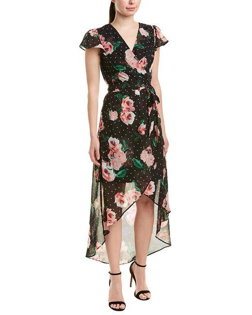 Julia Jordan Black Faux Wrap Dress