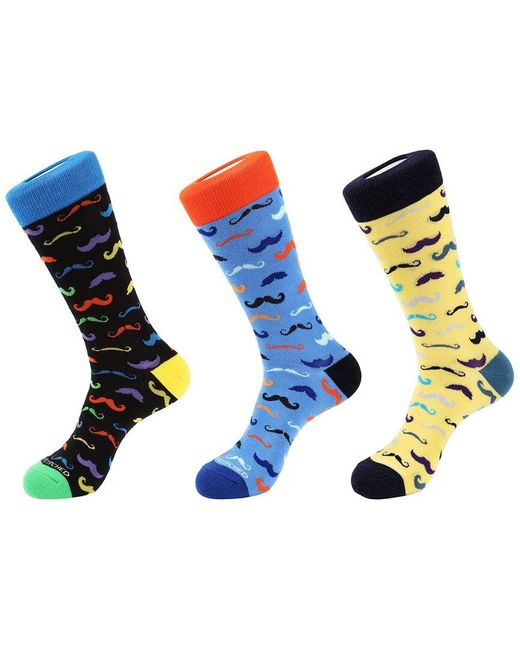 Unsimply Stitched Blue 3pk Crew Socks for men