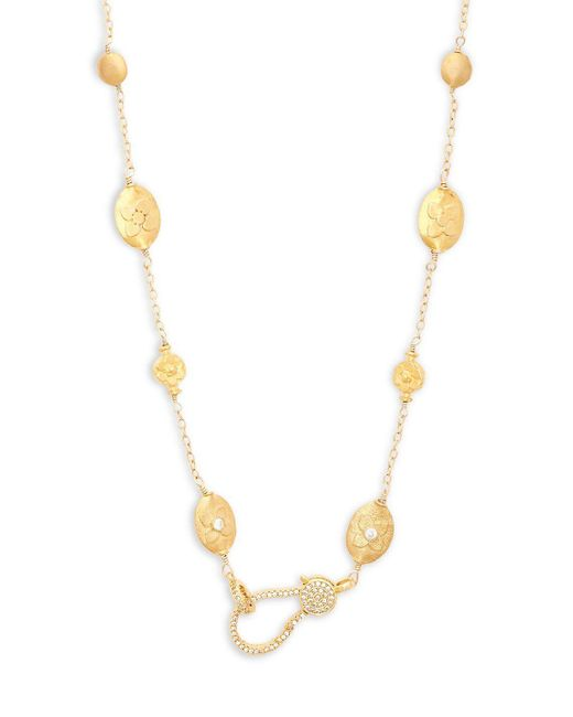 Mary L. - Metallic Crystal Collar Necklace - Lyst