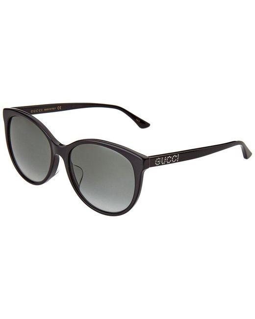 Gucci Black GG0729SA Asian Fit 001 Women's Sunglasses