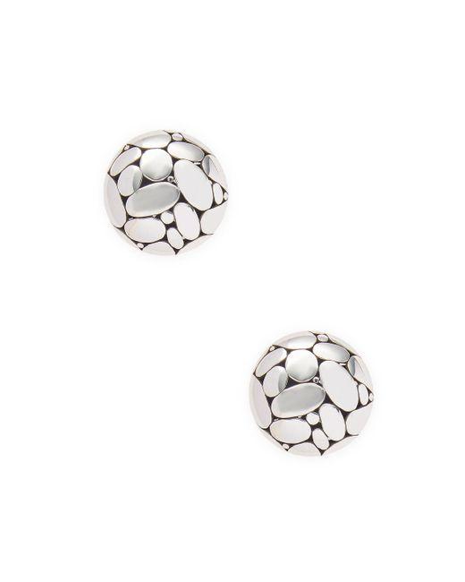 John Hardy - Metallic Silver Stud Earrings - Lyst